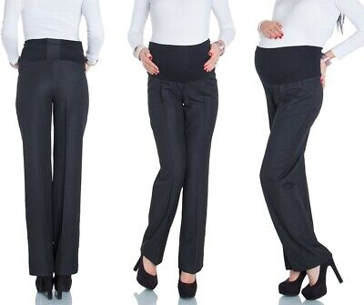 Happy Mama Women's Maternity Smart Tailored Work Office Over-bump Trousers. 246p
