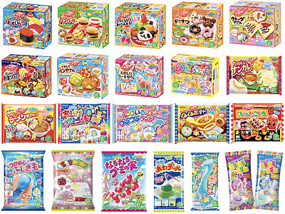 15 KRACIE POPIN COOKIN KITS DIY Japanese Candy Gummy Animal sushi ramen Poppin