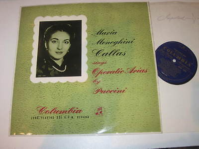 LP/MARIA CALLAS SINGS OPERATIC ARIAS BY PUCCINI/Columbia 33CX 1204