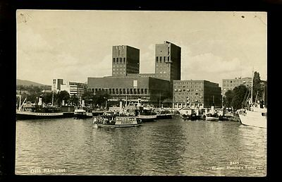 Norway OSLO Norway Row House RP PPC ferry Framnaes 1948