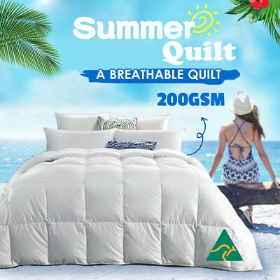All Size Microfibre Microfiber Summer Quilt Doona Duvet Blanket Super King