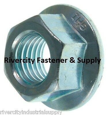 (10) M10-1.25 or 10mm x 1.25 Serrated Flange Spin / Wiz Lock Nuts Metric 10 pcs