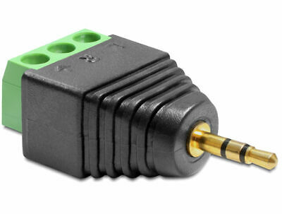 Delock Adapter Stereo plug 2.5 mm > Terminal Block 3 pin / connect single wires