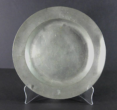 Antique London Hallmarked, English Pewter Plate