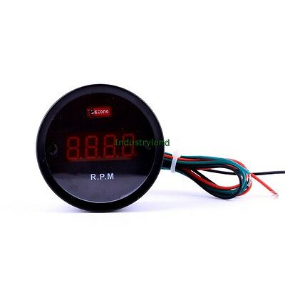 Digital Red LED Tachometer Tacho Gauge/RPM for Four-Cylinder Automobile DC12V