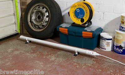 NEW Slimline Tube Heater with Inbuilt Thermostat for Garage, Greenhouse or Shed