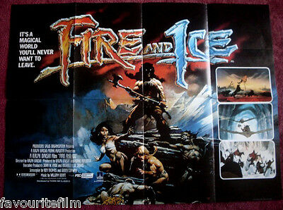 Cinema Poster: FIRE AND ICE 1983 (Quad) Randy Norton Frank Frazetta Artwork