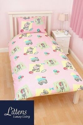 Me To You Vintage Junior Toddler Cot Bed Bundle, Duvet, Pillow, 4 in 1, Pink