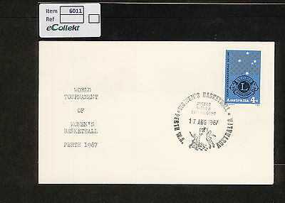 1967 APM02410.3 WOMENS BASKETBALL PERTH Pictorial Postmark (6011.40)