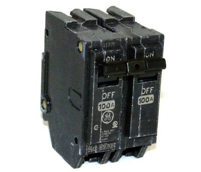 New General Electric THQL21100 2 pole 100 amp 120 volt Circuit Breaker GE