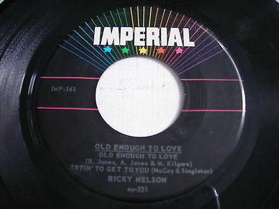 Ricky Nelson Old Enough to Love 1959 45rpm EP VG+