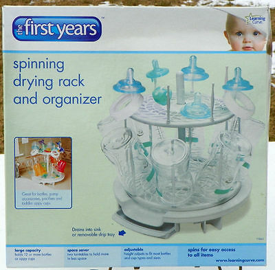 The First Years Spinning Spin Drying Rack Bottle Organizer Clean