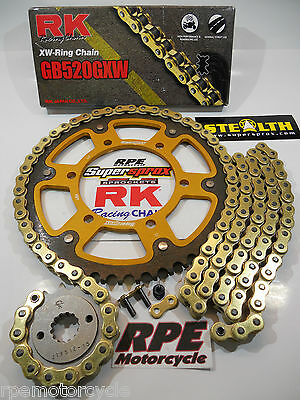 Honda RC51 RVT1000R 2000-06 Supersprox RK GXW Gold Chain and Sprockets Kit