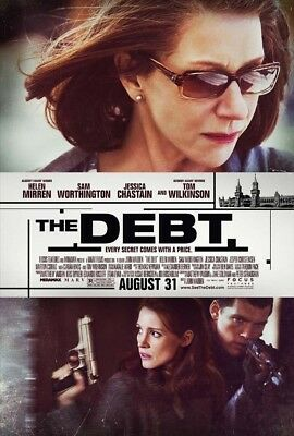 THE DEBT MOVIE POSTER 2 Sided ORIGINAL ROLLED 27x40