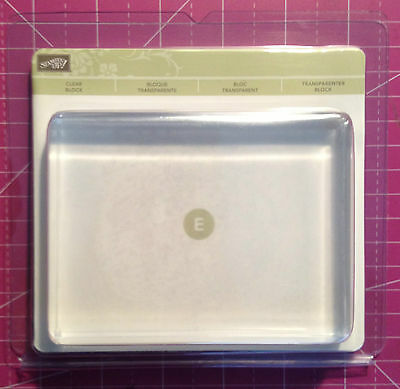 Stampin Up! Clear Acrylic Blocks For Clear Mount Stamps All Sizes Choose 1 NEW