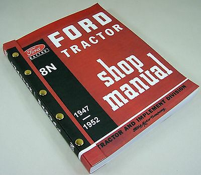 .ford 8N Tractor Shop Manual Service Technical Repair New Print 2N 9N Compatible
