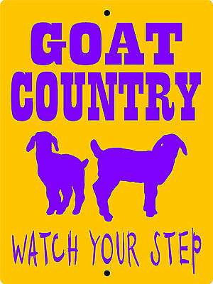 GOAT SIGN, Aluminum Sign,Animals,Farm sign,Pigs,chickens,horses,llama,GOATC1
