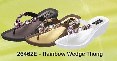 d396382180451 GRANDCO SANDALS NEW 4 Jewel Sandals Thong Flip Flop SIZE 6 White ...