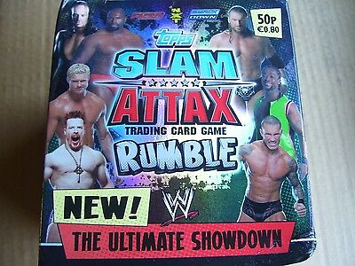 100 Sealed Packs Slam Attax Rumble Trading Cards By Topps Trading Bargain Price