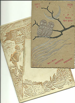 Wonderful Pair Of Victorian New Year's Booklets Given Out by Newspapers-Utica,NY
