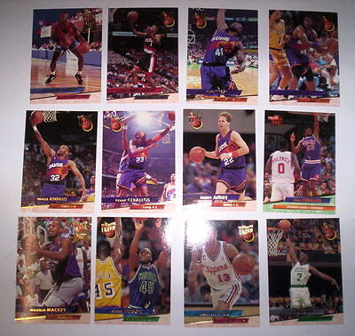 Superbe Lot 12 Cartes De Basket Nba Fleer Ultra 93-94
