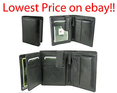 Mens Wallet Soft Real Leather Visconti New in Gift Box Quality Black/Brown HT11