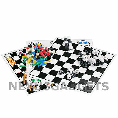 7 Game Travel Set Snakes Ladders Chinese Checkers Backgammon Chess Ludo Magnetic