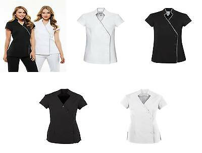 Ladies Zen Tunic Crossover Chemist Beauty Salon Medical Wear WOMENS New UNIFORM