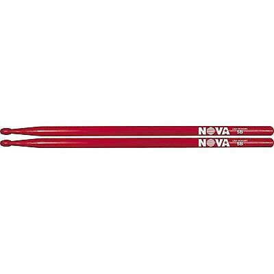 Vic Firth Nova 5b drum sticks in red with wood tip