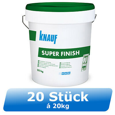 20 x 20kg Knauf Super Finish Feinspachtel Superfinish Fertigspachtel Trockenbau