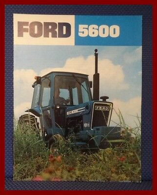 1980 Ford 5600 Farm Tractor Brochure - New Old Stock