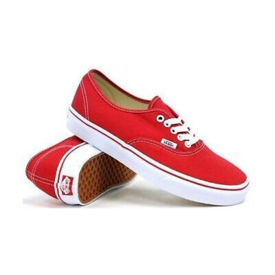 Vans Shoes Authentic Red/true White Skate Skateboard Surf Casual Kingpin Store