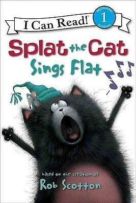 Splat the Cat Sings Flat by Rob Scotton (English) Hardcover Book Free Shipping!
