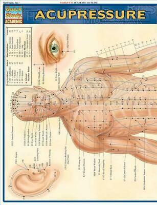 Acupressure Laminate Reference Chart (English) Free Shipping!