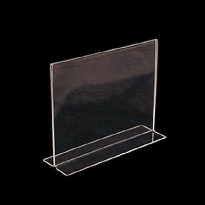 "Horizontal Double Sided, Stand Up Acrylic Sign Holder (11""W x 8.5"")"