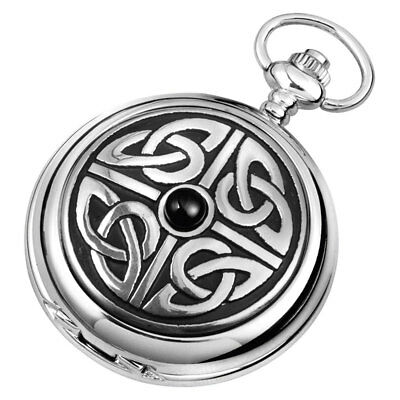Harrison Brothers & Howson Woodford Hunter Pocket Watch Celtic Knotwork 1908