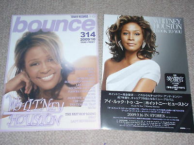 WHITNEY HOUSTON The ULTIMATE COLLECTION flyer mini-poster rare 2009 find! MINT