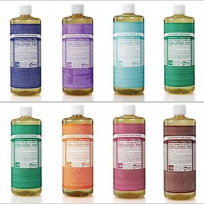Dr Bronner Castile liquid soap Organic Fair trade 473ml 16oz