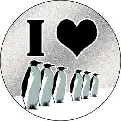 Statements and Sayings - I love Penguins Glitter Sticker