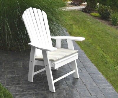 Poly UPRIGHT ADIRONDACK Chair *OFFERED IN BRIGHT WHITE COLOR* Made In USA