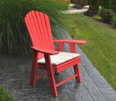 Poly UPRIGHT ADIRONDACK Chair *OFFERED IN BRIGHT RED COLOR* Made in USA & POLY UPRIGHT ADIRONDACK Chair *OFFERED IN LEMON YELLOW COLOR* Made ...