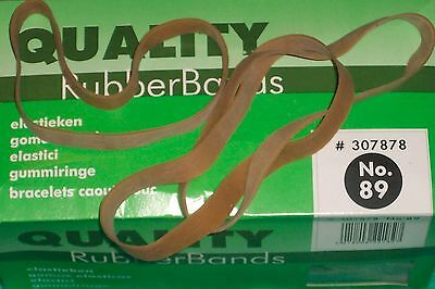 elastic rubber bands connect # 89 circa 100g 152mm long 12mm wide natural rubber