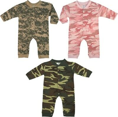 Camouflage Long Sleeve Baby Onesies Infant Bodysuit