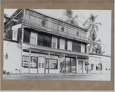 "Surf-&-Sea Store Kam Hwy Haleiwa 1974 Hand Printed Photograph On 8X10"" Mat"