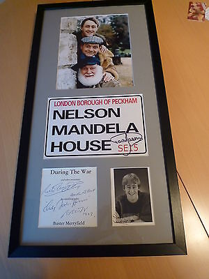 Sir David Jason, Nicholas Lyndhurst & Buster Merryfield Signed Presentation