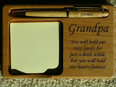 Engraved Grandpa Memo and Pen Holder with FREE Pen Gift