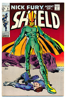 NICK FURY AGENT OF SHIELD #8 VF, S.H.I.E.L.D., Marvel Comics 1969