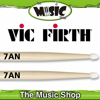 Set of  Vic Firth American Classic 7A Nylon Tip Drumsticks - 7AN Drum Sticks
