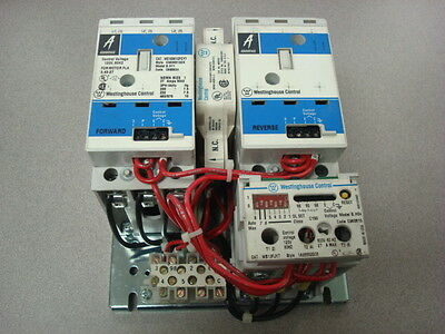 USED Westinghouse W210M1CFCY7 Reversing Contactor Assembly B.H11 Size 1 120V