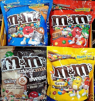 M&m's Chocolate Candy Party Holiday Salty & Sweet Snack Mix Candies ~ Pick One